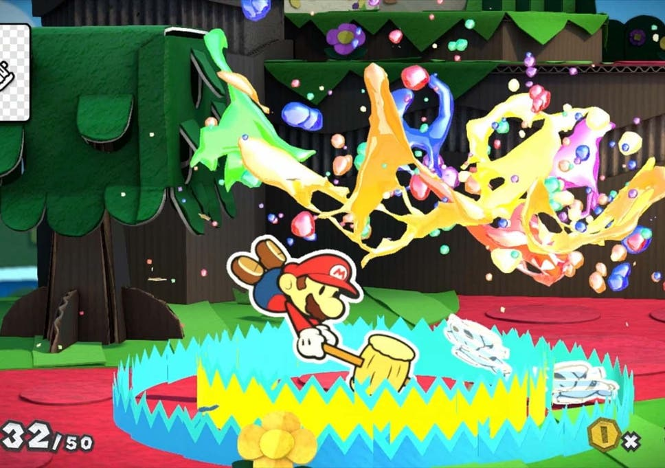 paper mario colour splash review wii u confident and well