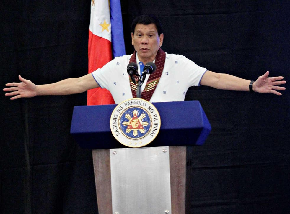 Rodrigo Duterte has ordered 28 annual military exercises with US forces to be halted