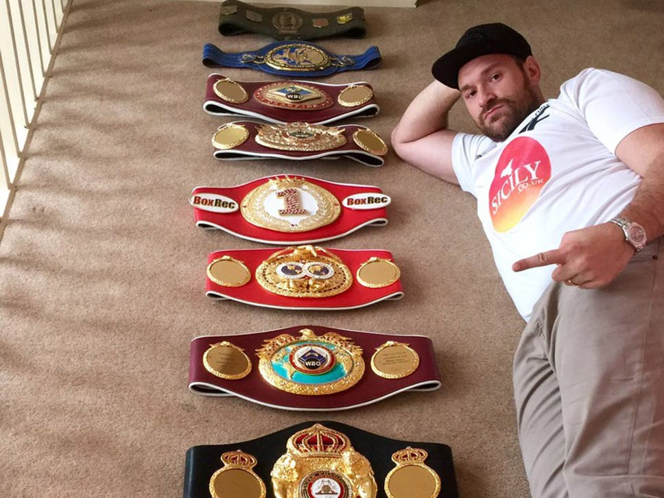 Image result for tyson fury belts