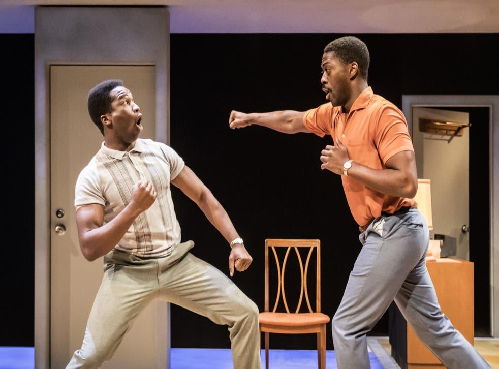 Sope Dirisu (left) as Cassius Clay and David Ajala as Jim Brown