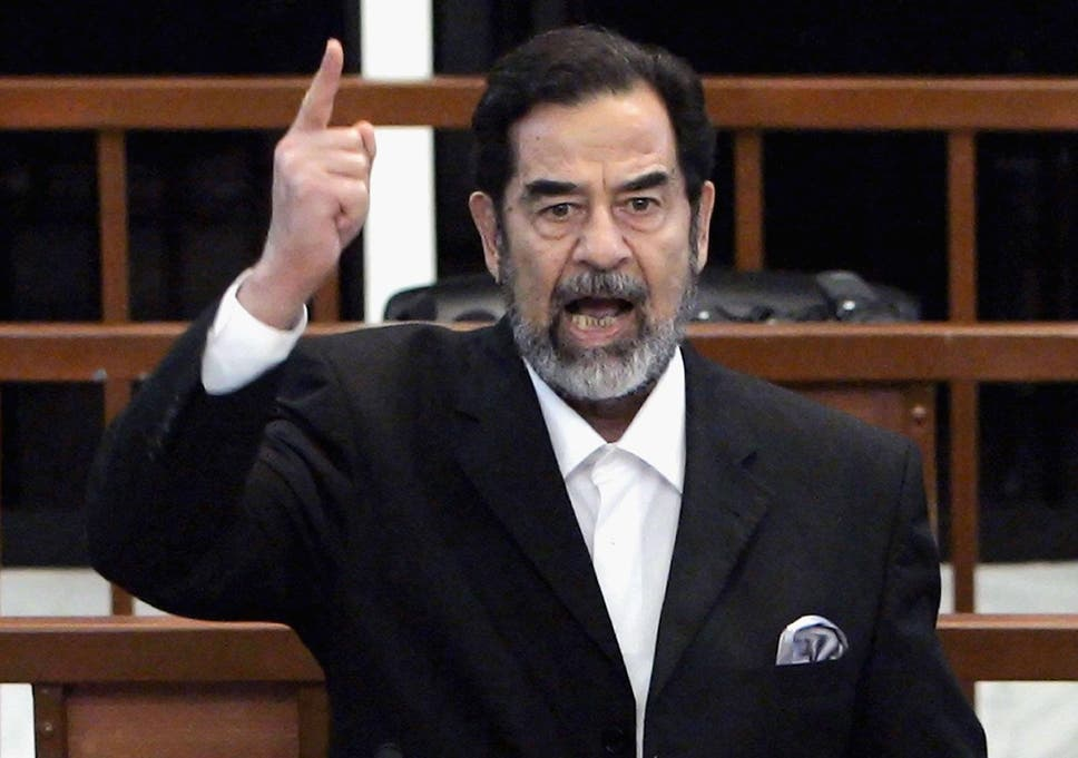 Saddam Hussein as he is found guilty in 2006 <em>Getty</em>