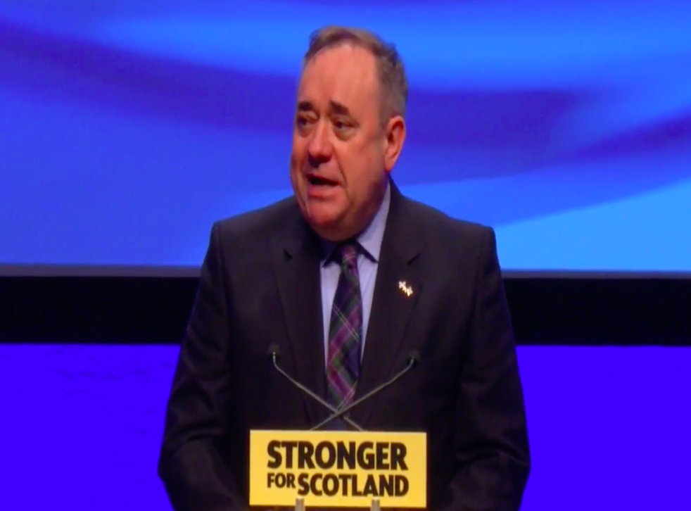 Alex Salmond spoke before SNP conference