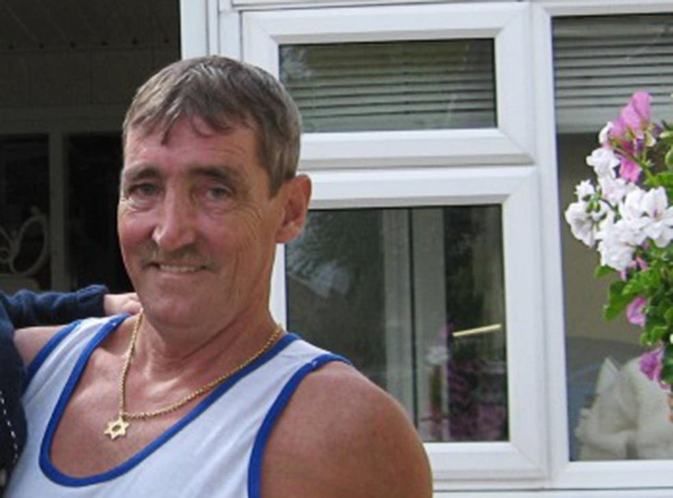 Duncan Keating was hit with a parasol and repeatedly punched by his neighbour