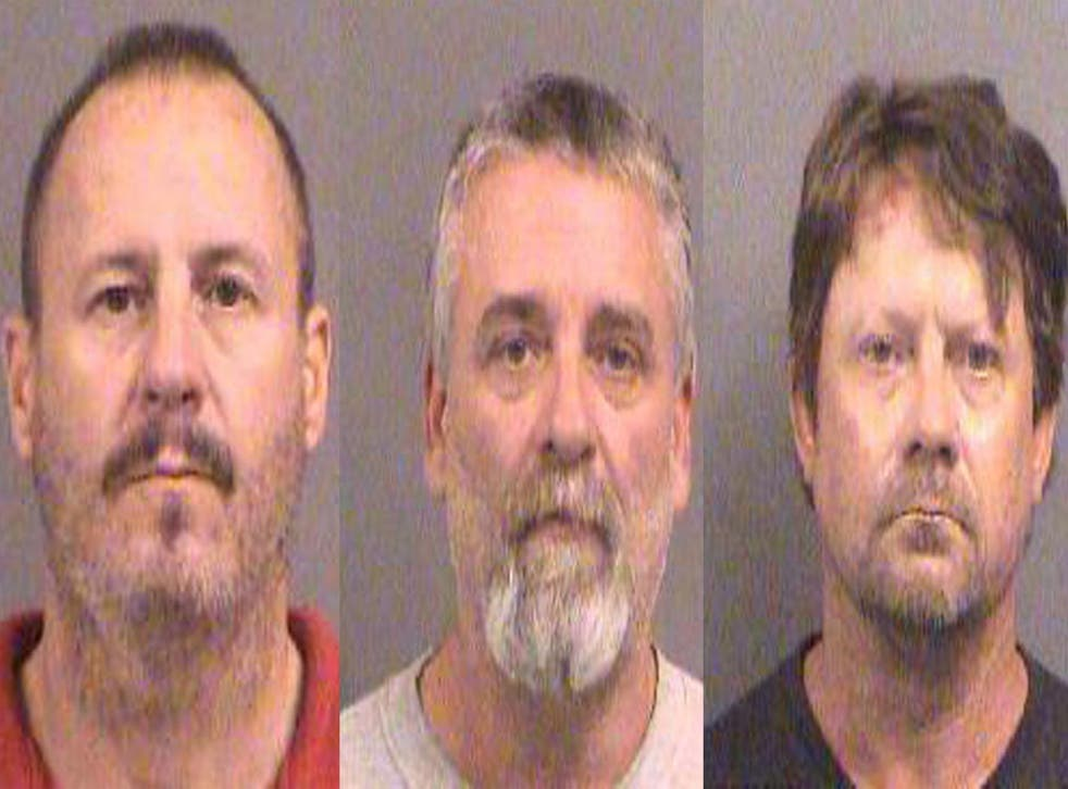 Prosecutors have charged Curtis Wayne Allen, 49; Patrick Eugene Stein, 47; and Gavin Wayne Wright, 49, with conspiring to use a weapon of mass destruction