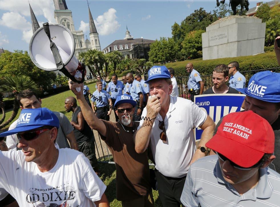The white supremacist caused quite the stir at the senate debate