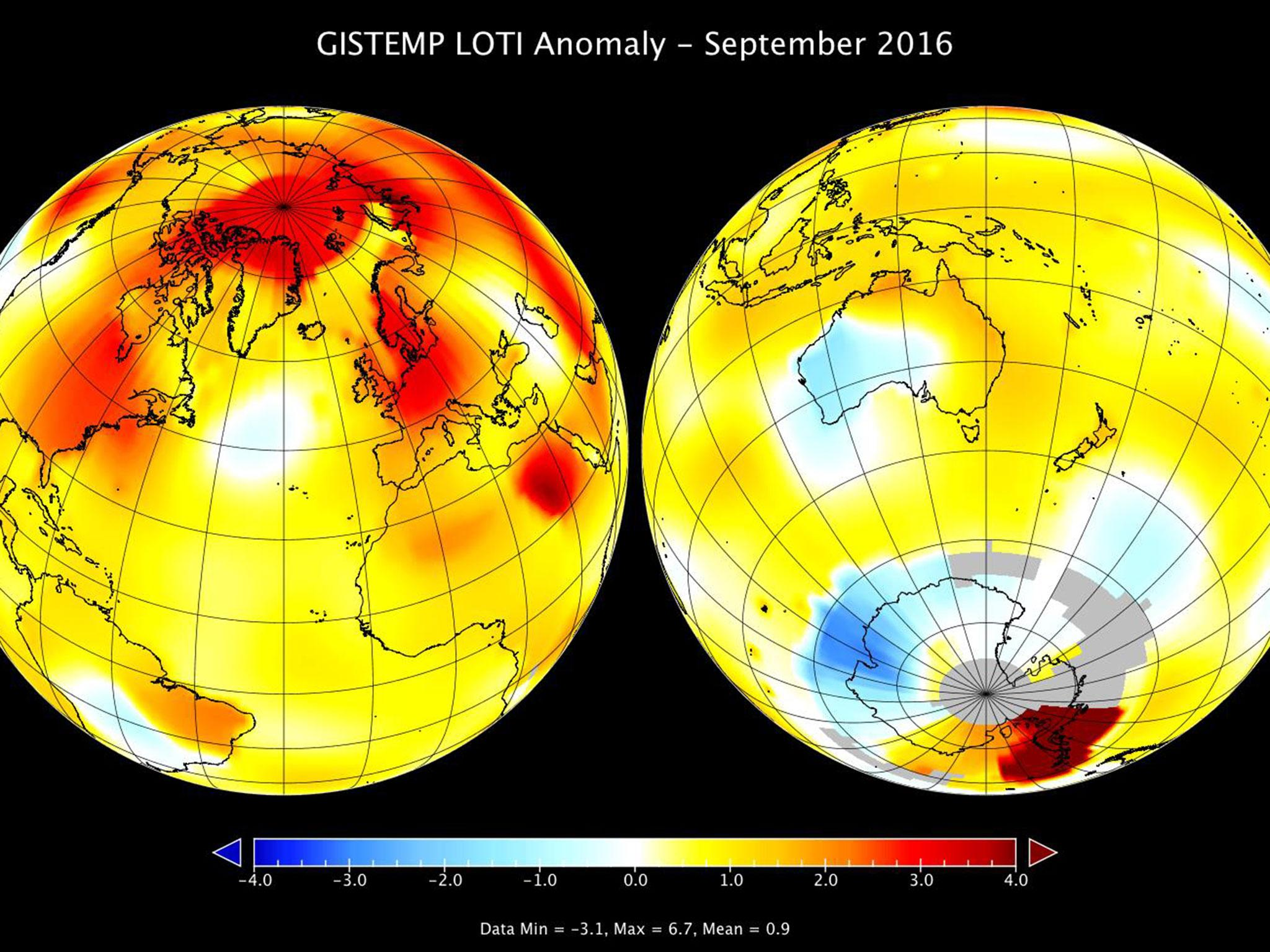 Earth on track for its warmest year on record after hottest September in 136 years