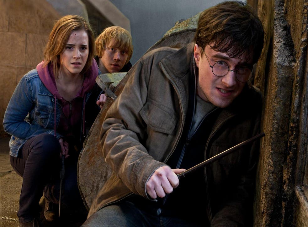 Emma Watson, Rupert Grint and Daniel Radcliffe in 'Harry Potter and the Deathly Hallows Part 2'