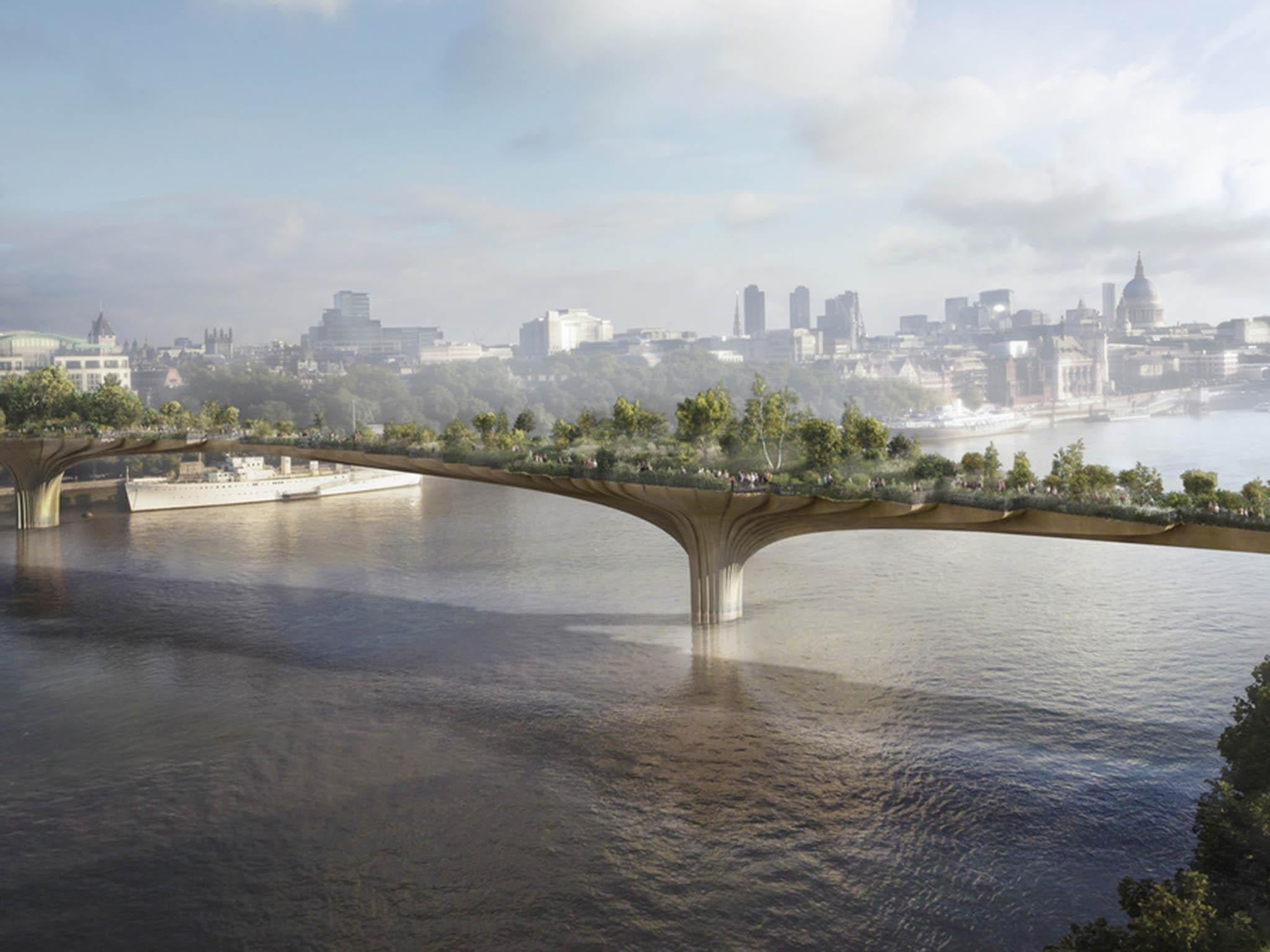 London S Garden Bridge City Centre Haven Or A Bridge Too