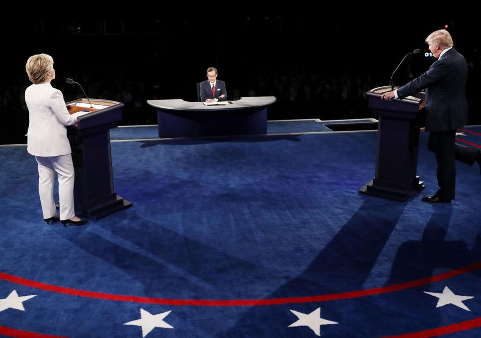 Democratic presidential nominee Hillary Clinton went head to head with the  Republican candidate Donald Trump