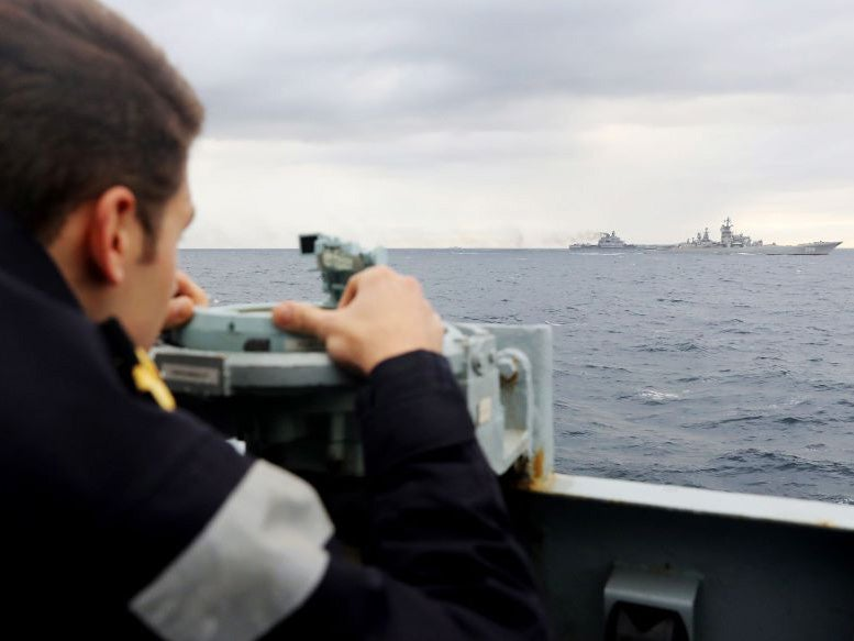 British warships tracking Russian fleet heading for the Channel