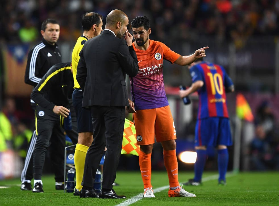 Nolito struggled to understand what Guardiola was saying after the match