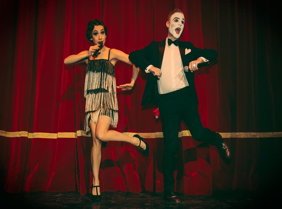Cabaret performers at a Boheme Sauvage 1920s night