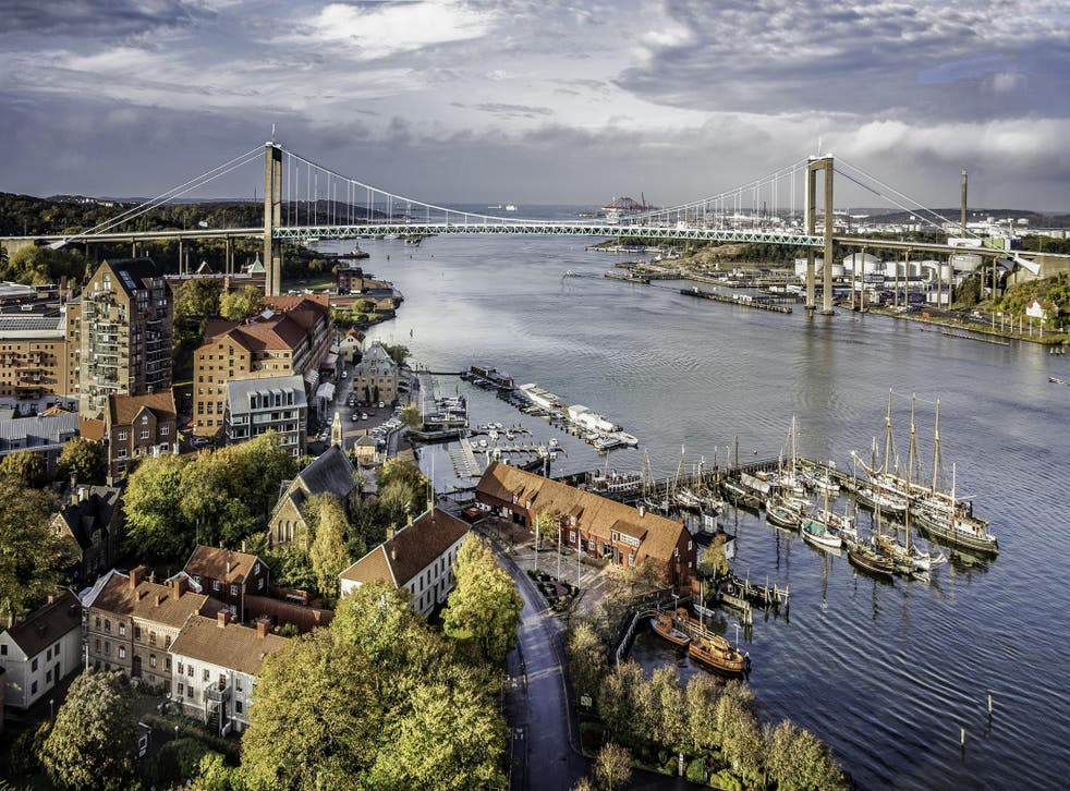 Gothenburg sits at the mouth of the Gota river