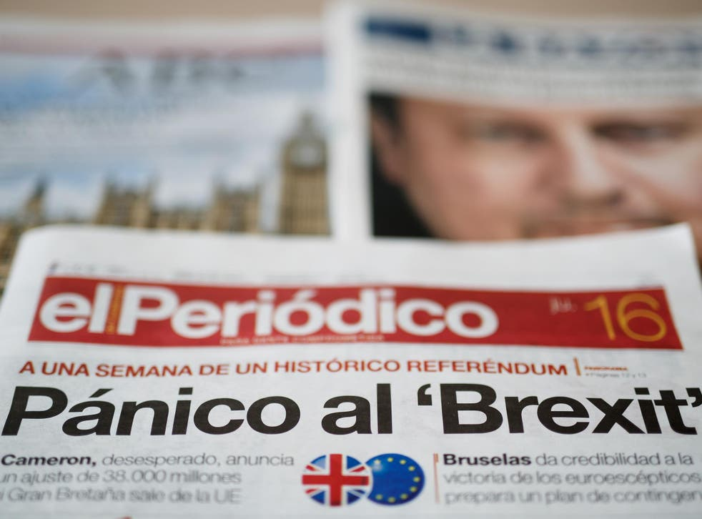 Spanish newspaper El Periodico reports on 'El Brexit'