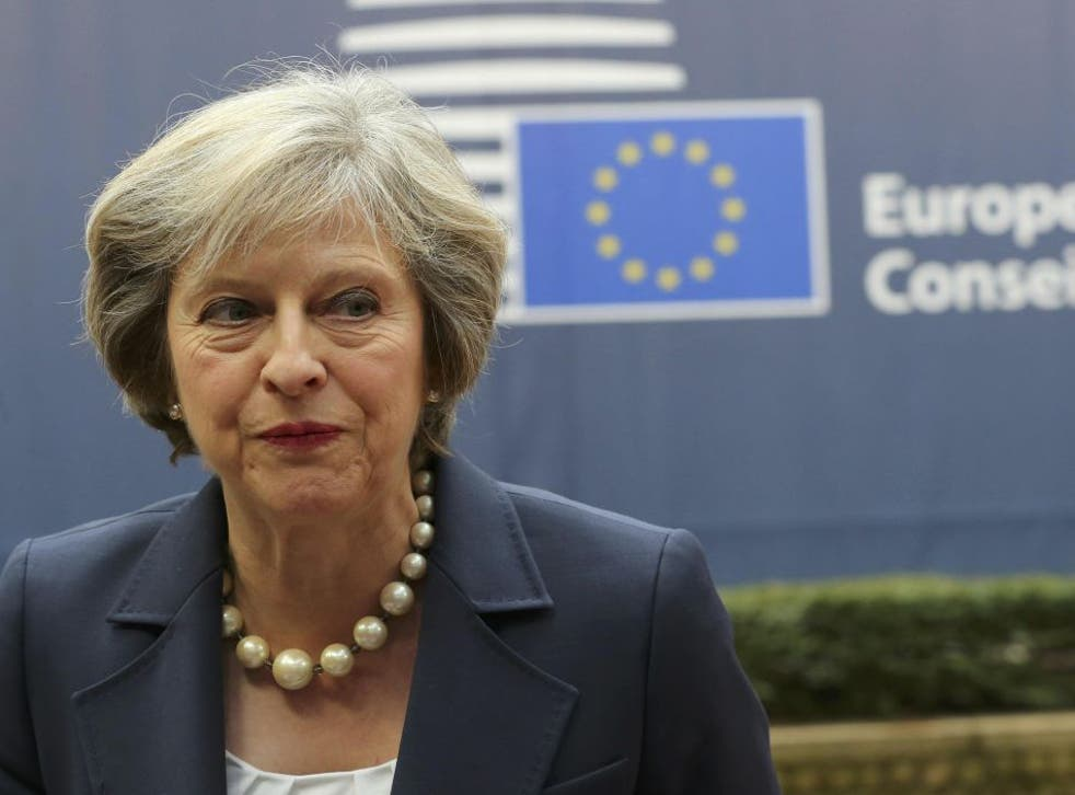 The Prime Minister arrives at the EU summit in Brussels on Thursday