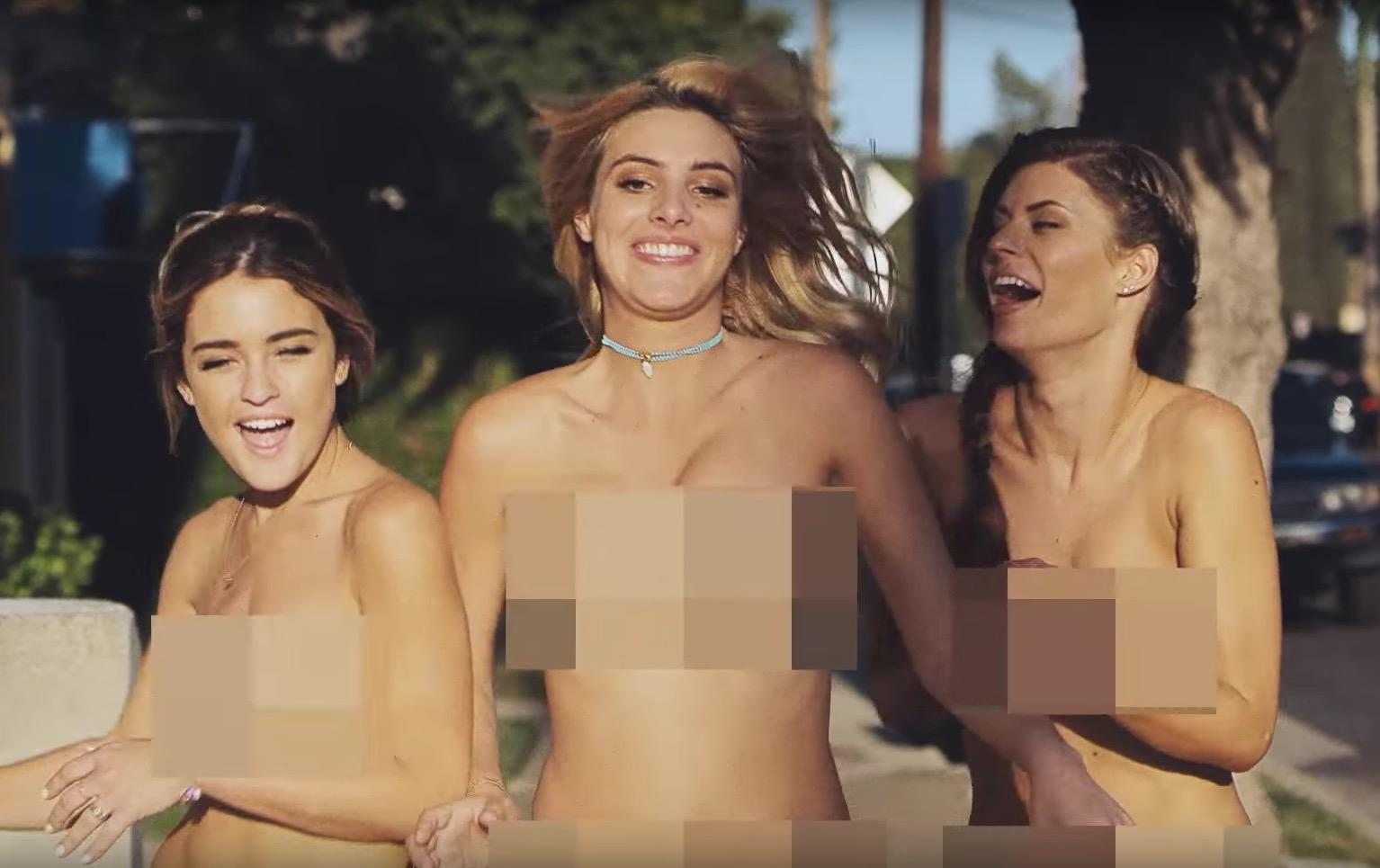 naked women playing in video