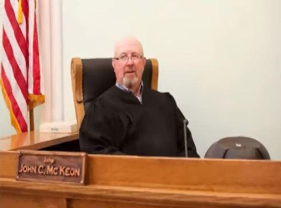 Pictued is Judge John Mckeon who sentenced the rapist to 60 days