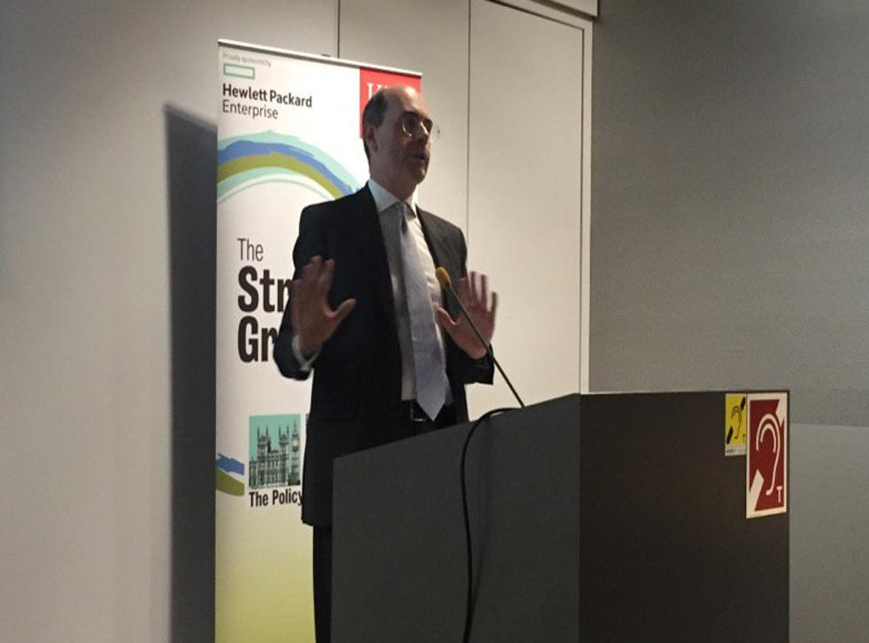 John Kingman, former acting Permanent Secretary to the Treasury, at the Strand Group last night