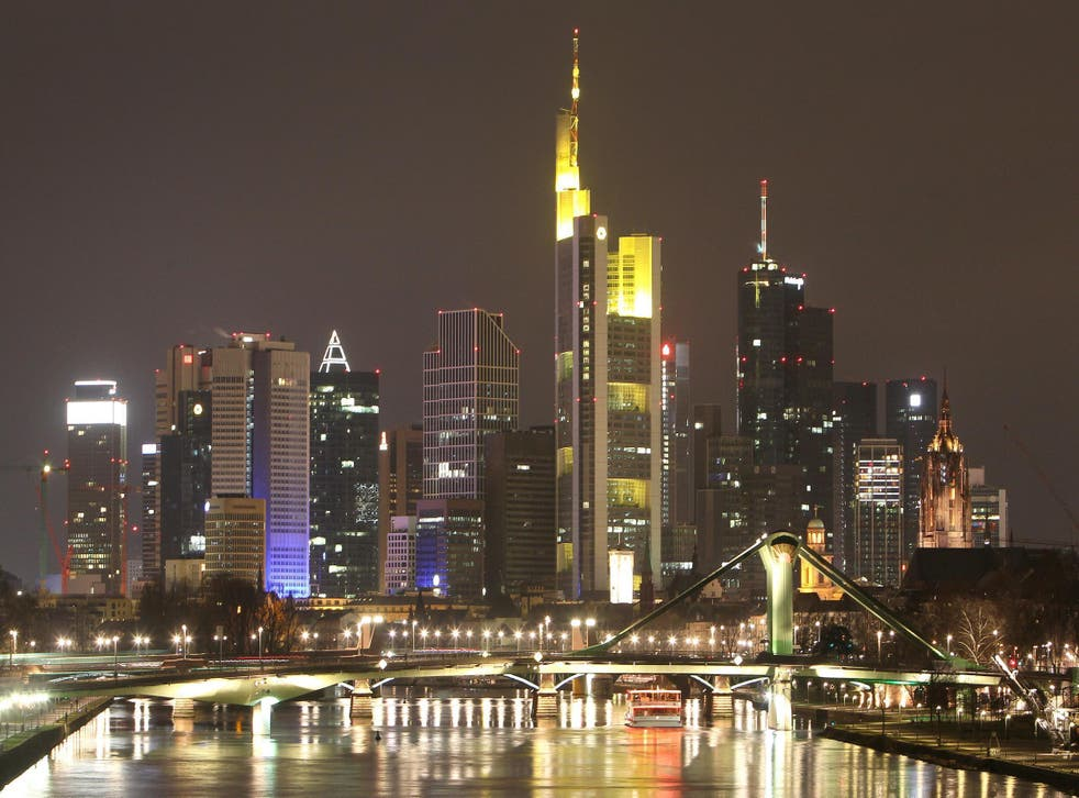 Frankfurt's financial industry is seeking to become the primary beneficiary of the Uk's decision to leave the EU