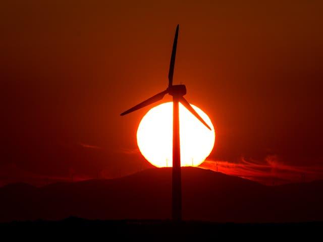 A wind turbine in Zaragoza, Spain