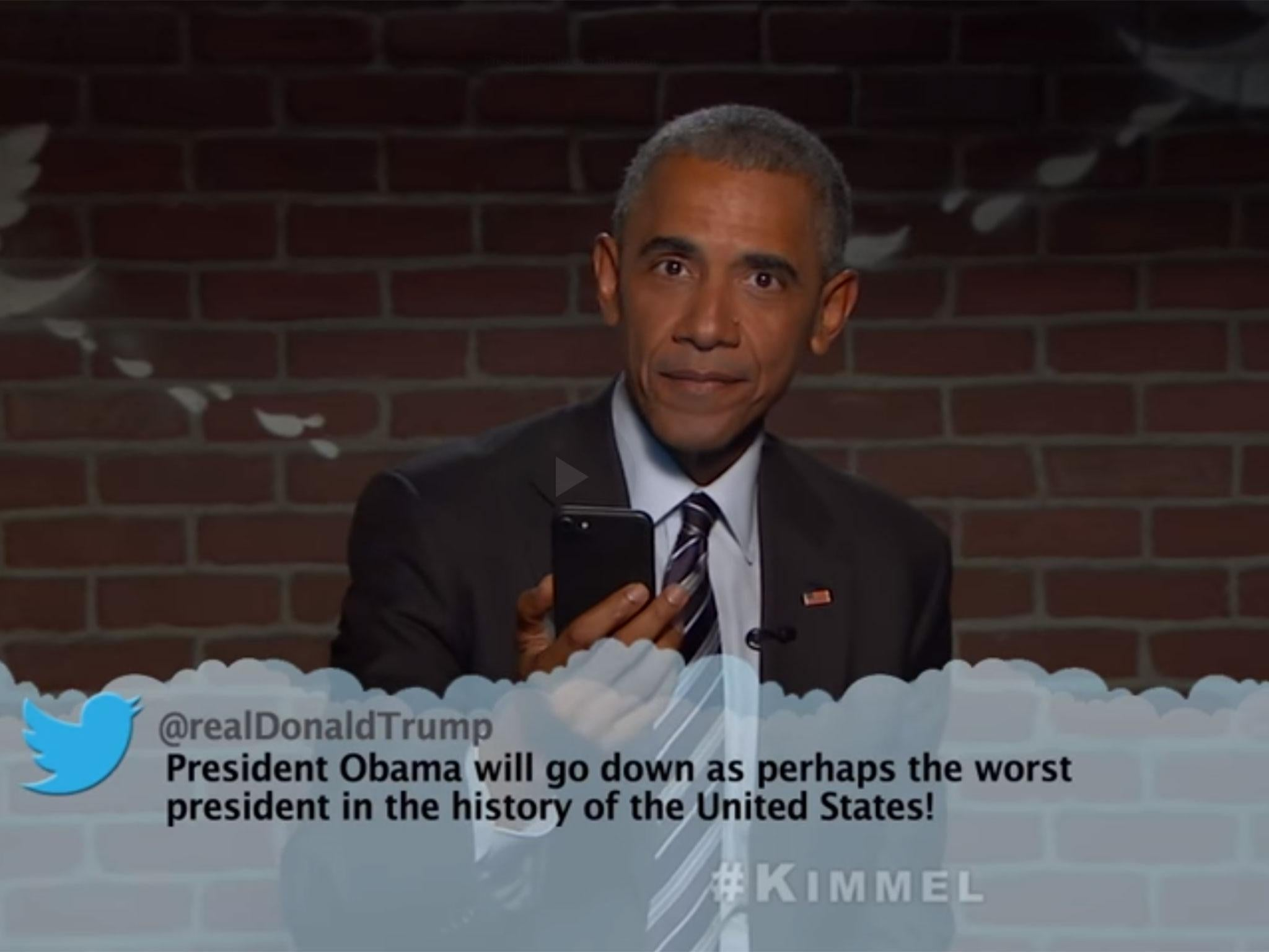 Barack Obama does another round of mean tweets on Jimmy ...