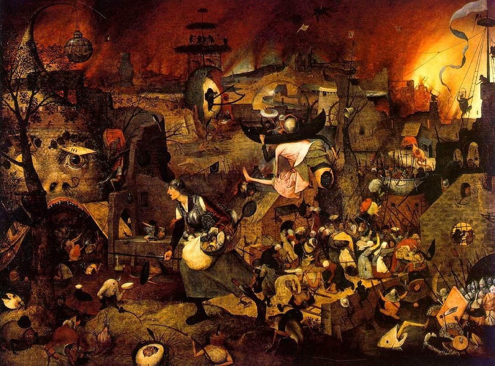 Dull Gret leading an army of women to pillage Hell, by Pieter Bruegel the Elder, 1562