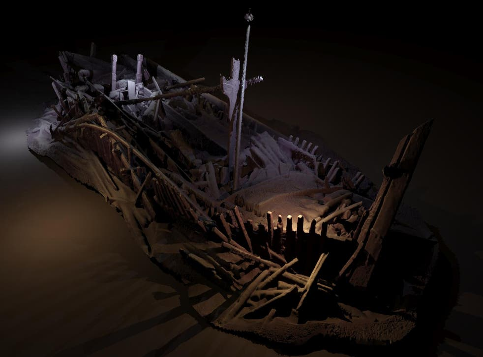 A shipwreck from the Ottoman period discovered 300 metres beneath the black sea