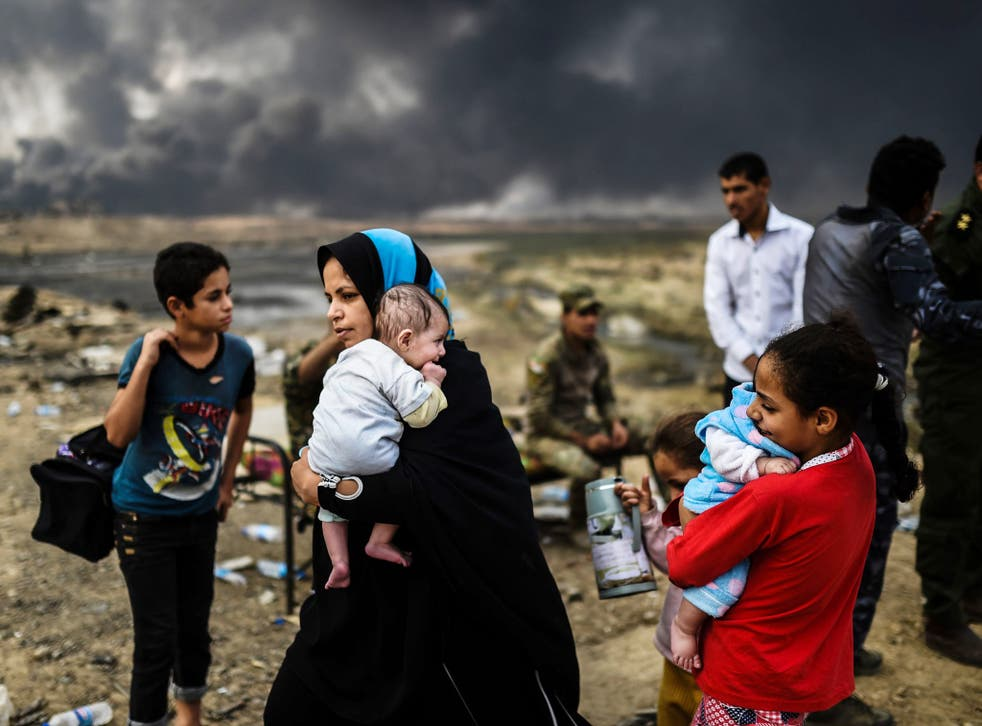 Iraqi families in villages surrounding Mosul have been displaced by the ongoing operation by Iraqi forces against Isis