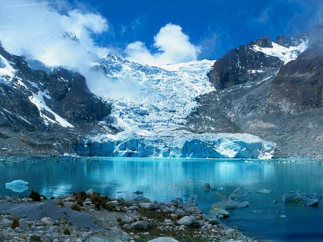 Laguna Glaciar is among 25 potentially dangerous lakes in Bolivia that could threaten downstream areas