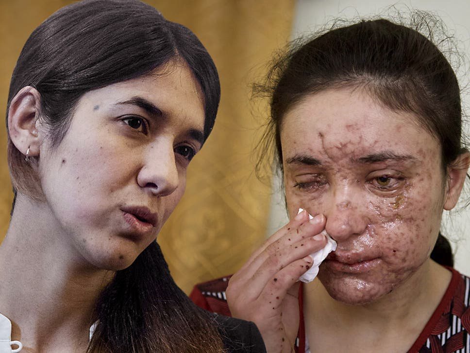 Survivors: Nadia Murad (left) and Lamiya Aji Bashar escaped Isis enslavement to become advocates for Yazidis, and were last month awarded the EU's Sakharov human rights prize