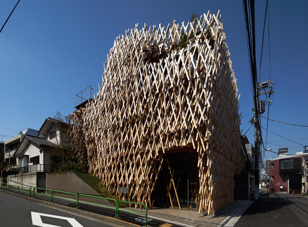 Sunny Hills cake shop in Tokyo's Aoyama is designed to look like the pineapple cakes served inside