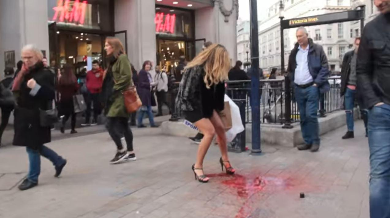 This Woman Made A Period Explosion In The Street To Test -6283