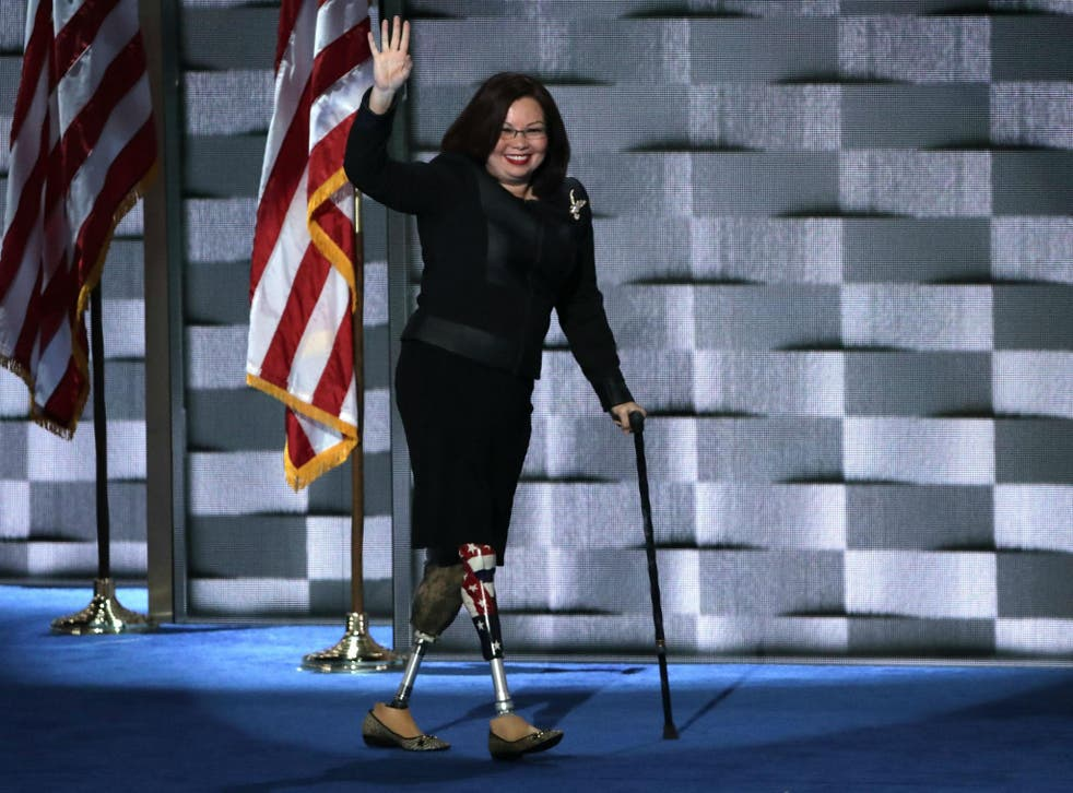 Ms Duckworth at the Democratic National Convention
