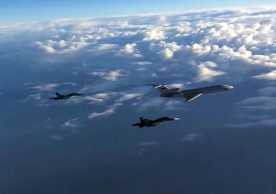 Russian and American jets involved in near miss over Syria