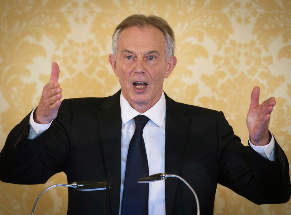 Former Prime Minister, Tony Blair speaks during a press conference at Admiralty House
