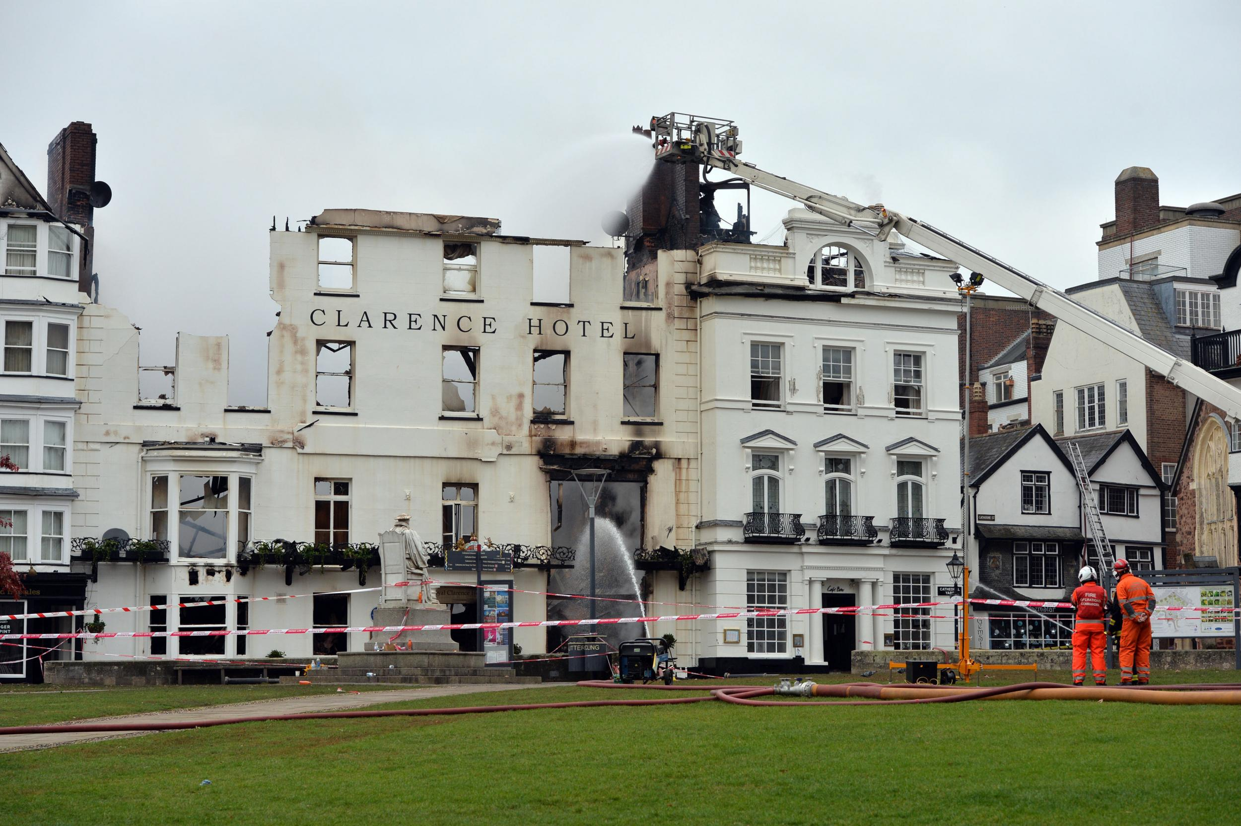 Exeter fire: Royal Clarence Hotel – the oldest in England
