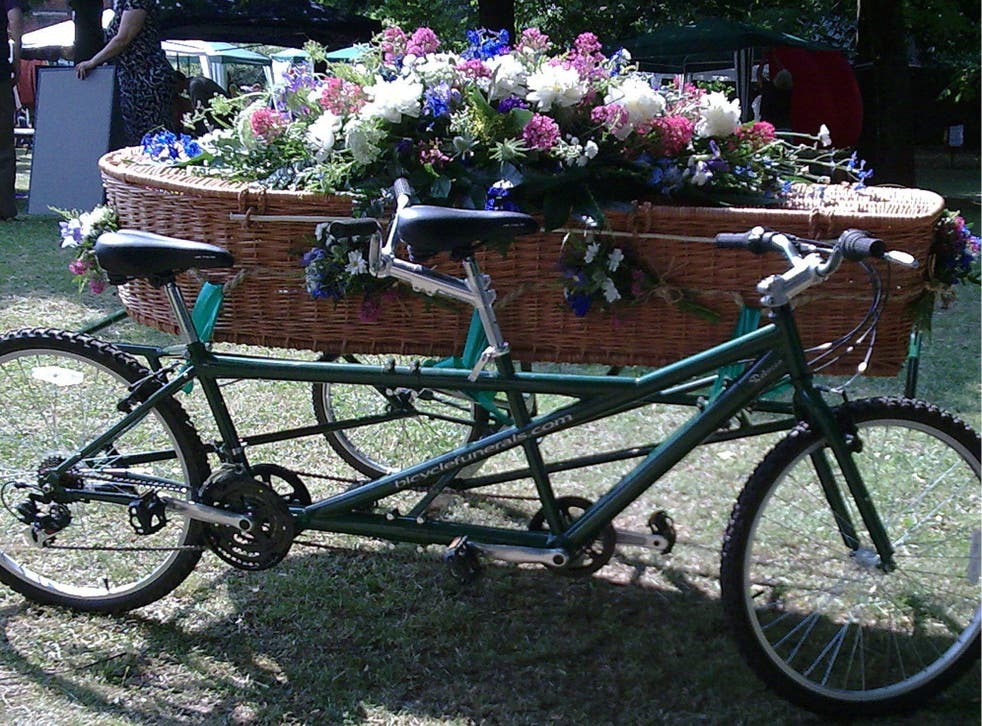 The UK's only tandem hearse is one such alternative idea being adopted to mark the life of a loved one