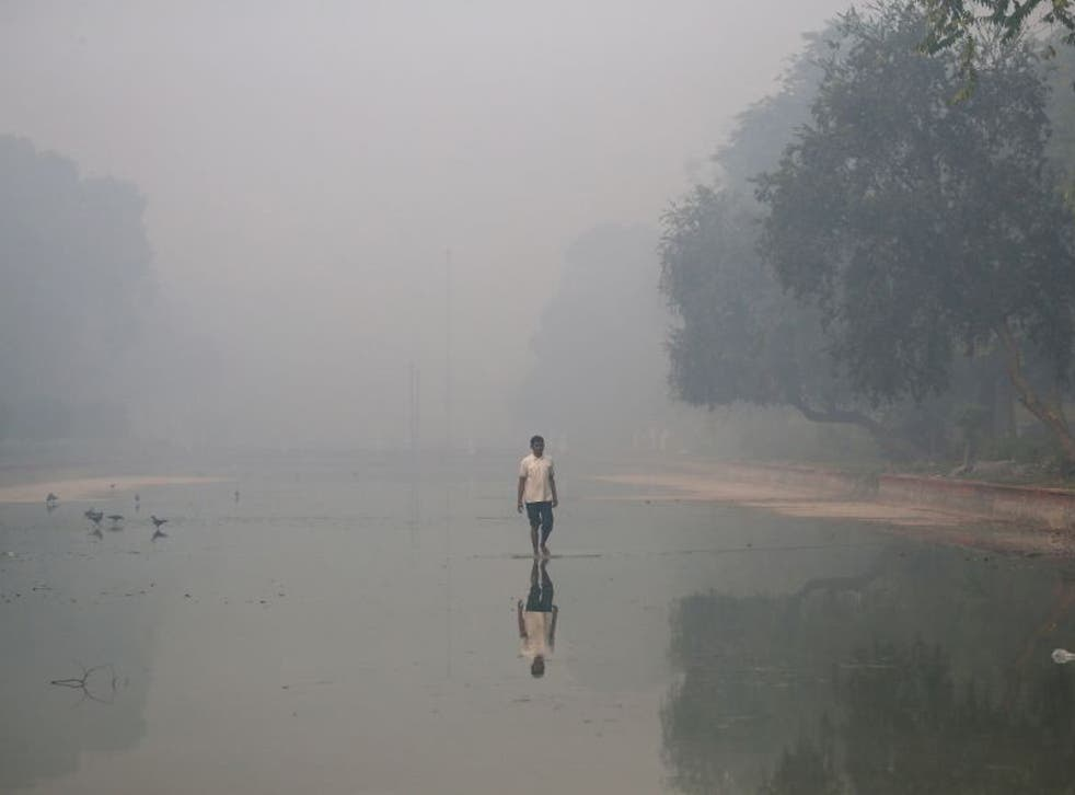 The aftermath of Diwali sees smog descend on the city, which already the most polluted in the world