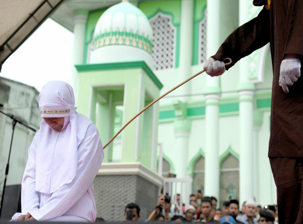 People in Banda Aceh can be publicly caned from breaking Sharia law