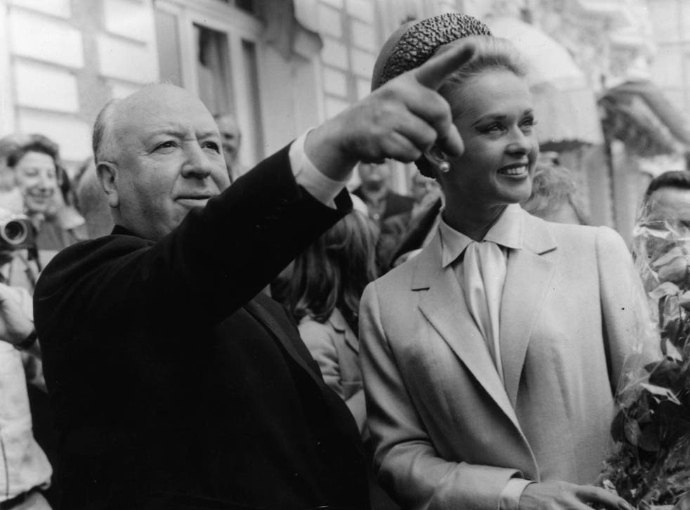 Alfred Hitchcock and Tippi Hedren in 1963