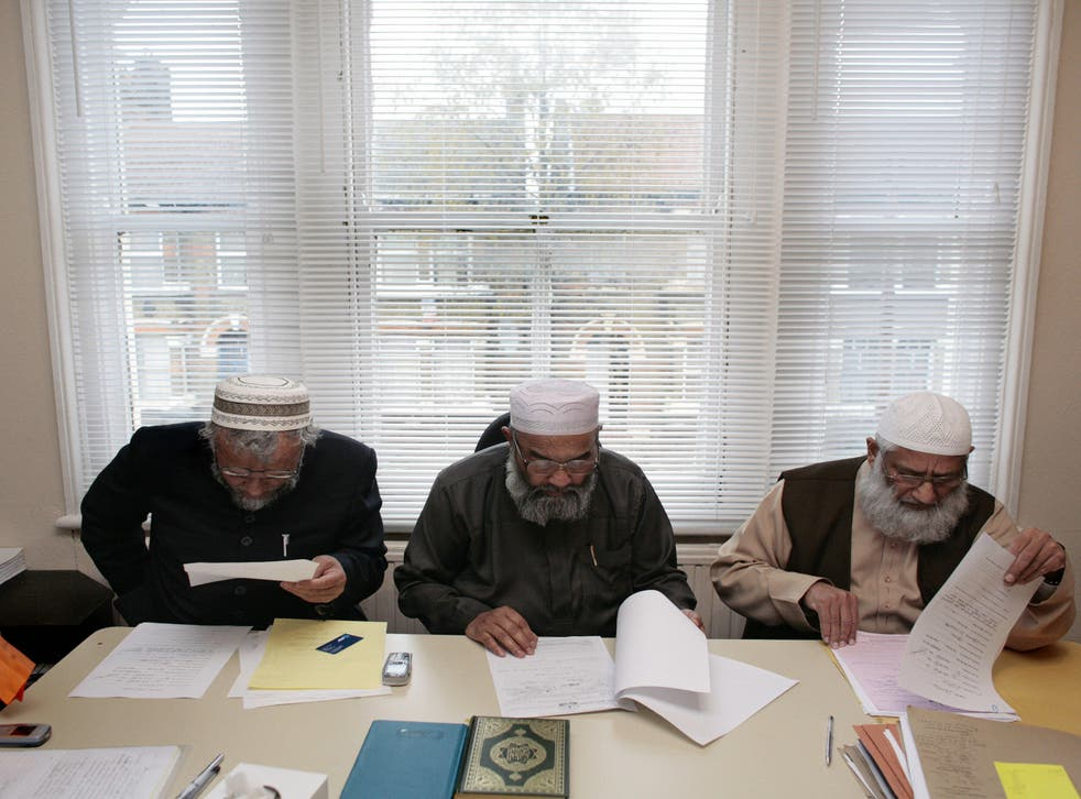The Sharia Council of Britain preside over marital cases at its east London headquarters
