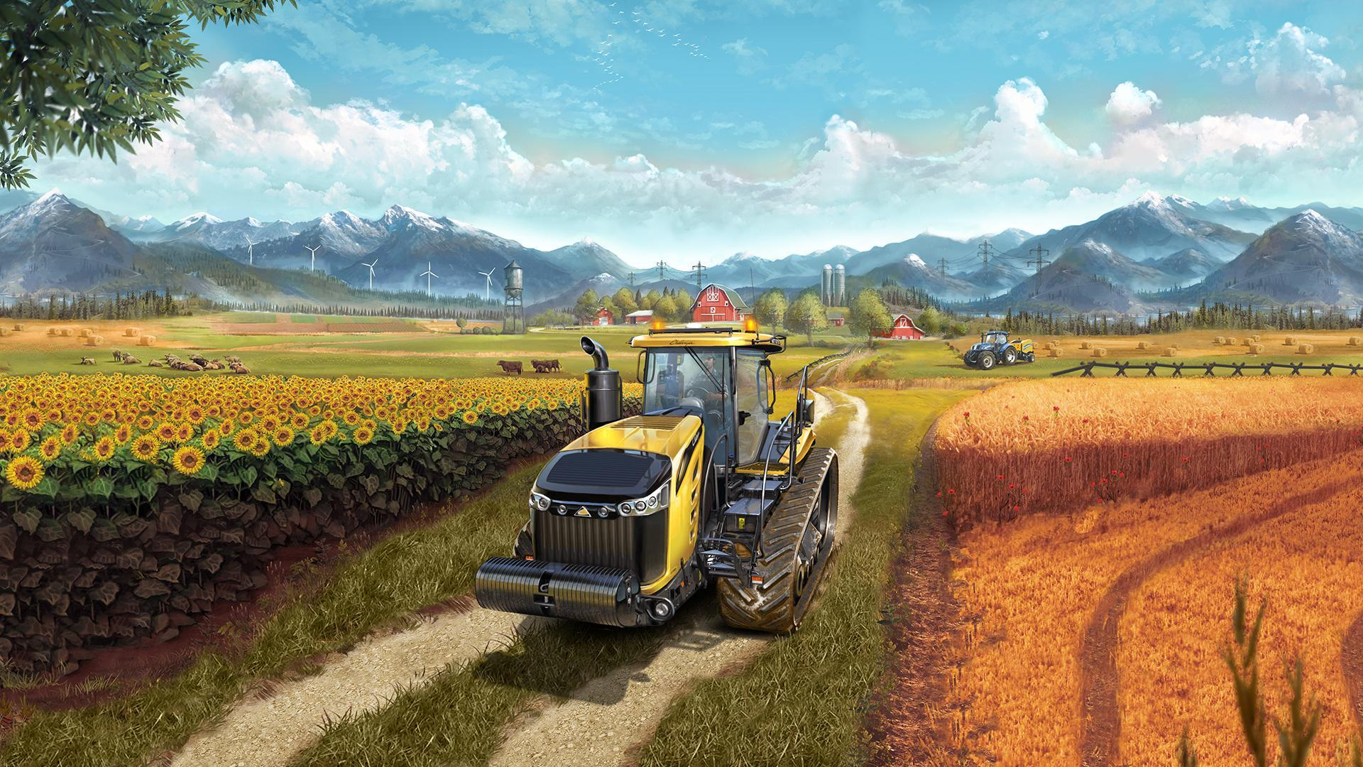 farming simulator 17 review love riding tractors ploughing fields and shooting hoops there 39 s. Black Bedroom Furniture Sets. Home Design Ideas