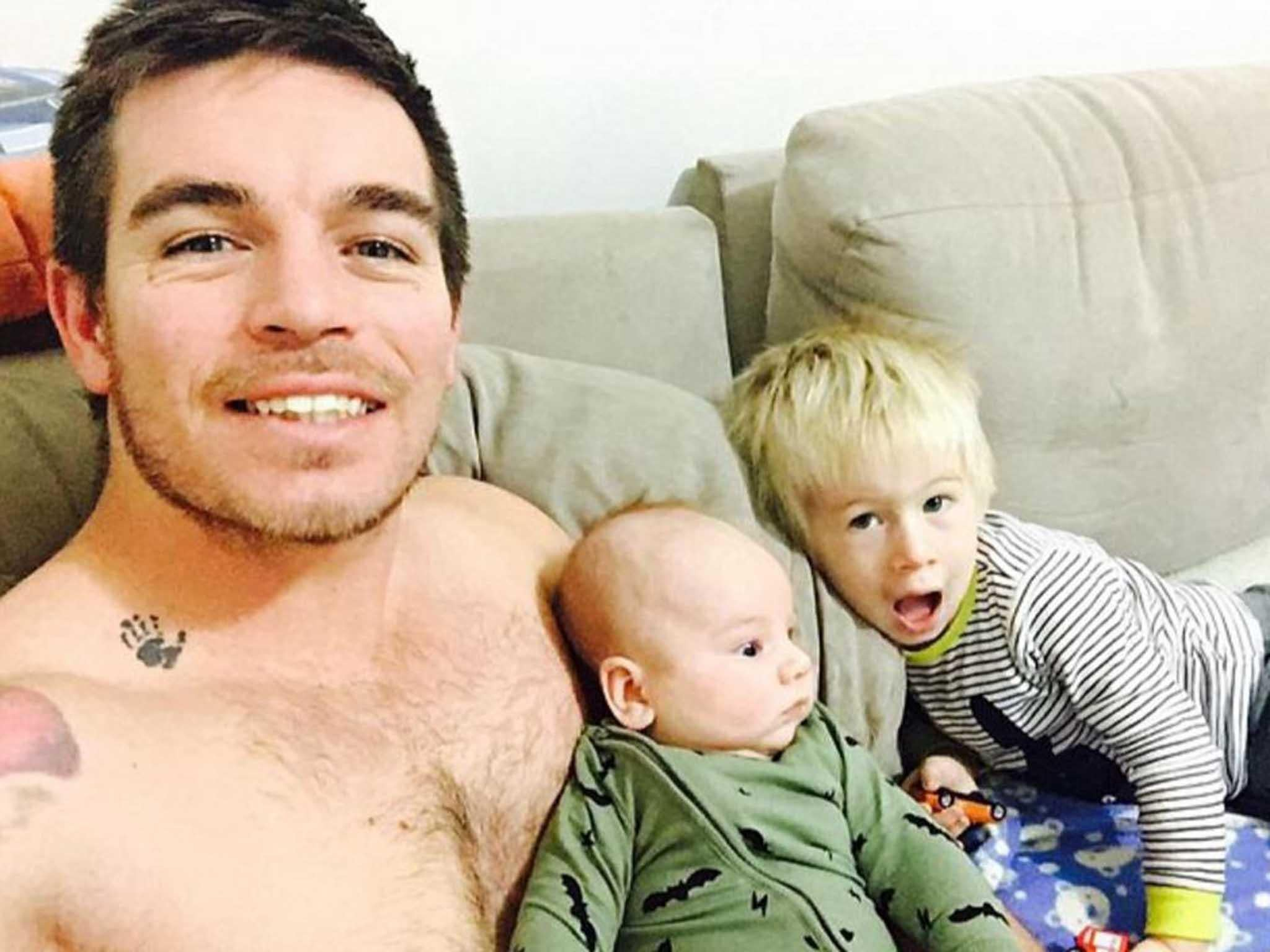 'Holy f**k! A baby is about to come out of my wife': Australian dad blogger reports from the front line as his partner gives birth