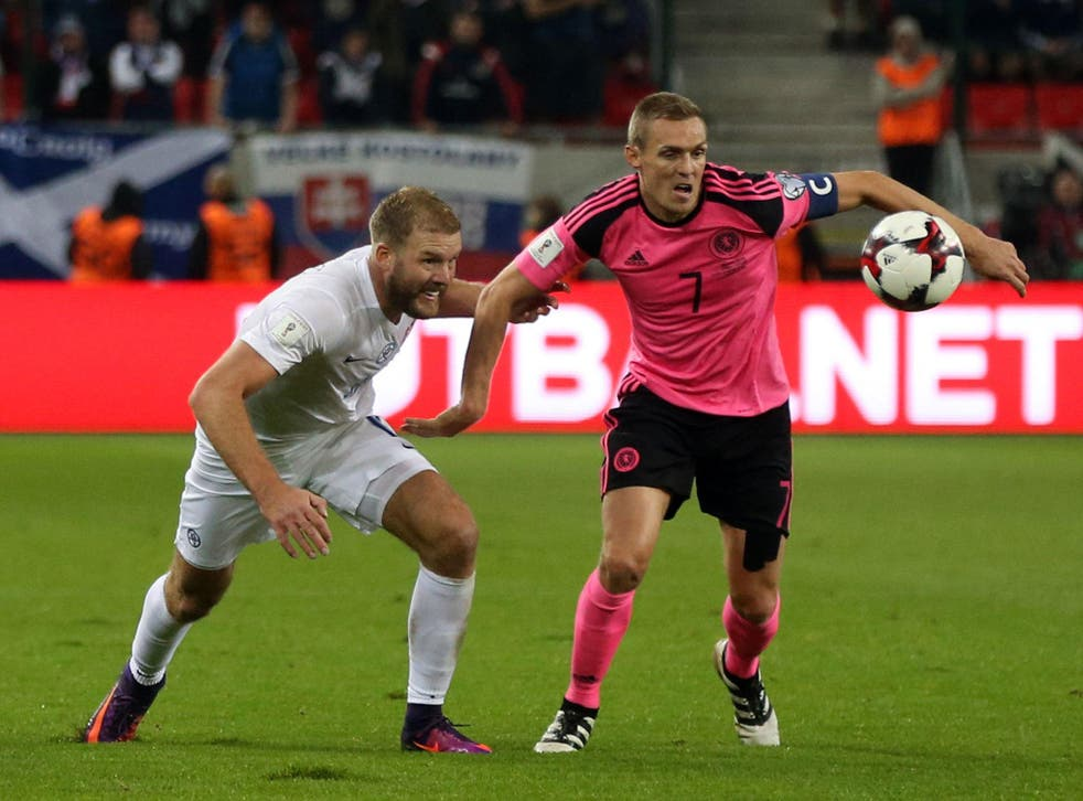 The only other time Scotland have worn pink was in their 3-0 away defeat to Slovakia in Ljubljana.