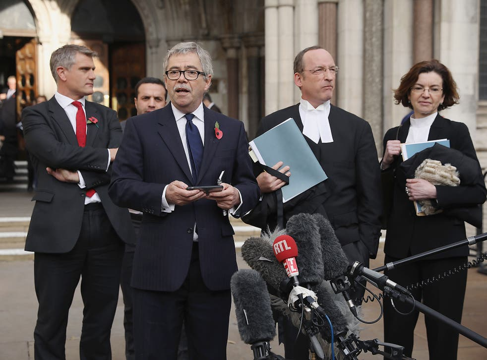 Lawyer for Deir dos Santos, David Green speaks after the High Court decides that the Prime Minister cannot trigger Brexit without the approval of the MP's at The Royal Courts Of Justice