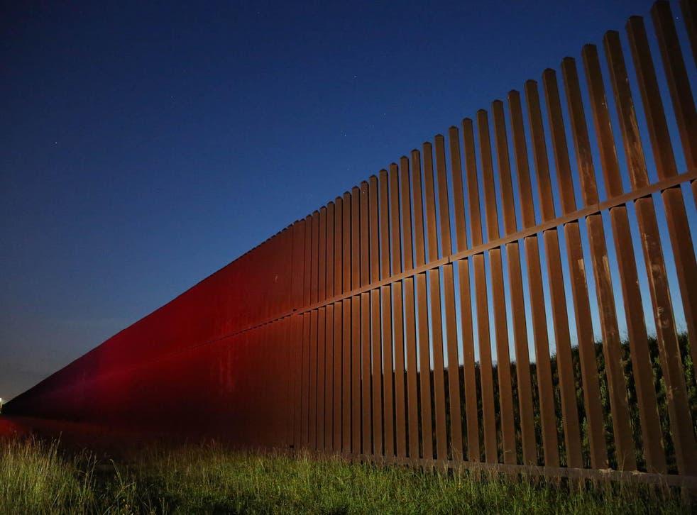 US border wall under construction