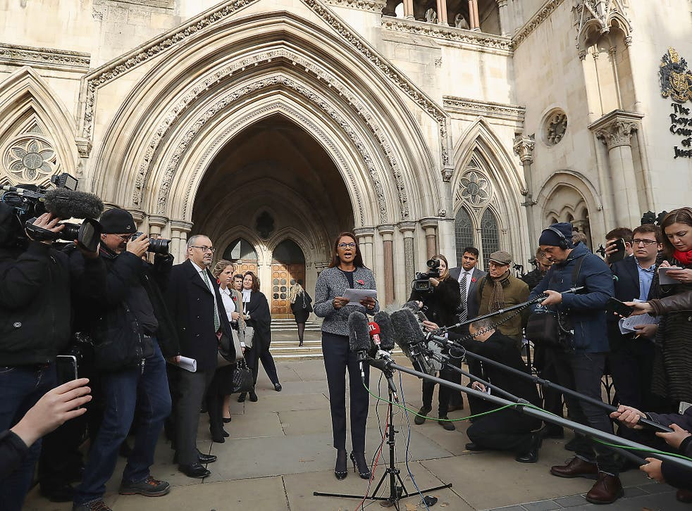 Gina Miller speaks after the High Court decides that the Prime Minister cannot trigger Brexit without the approval of MPs
