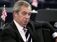 Nigel Farage hints at revolution if parliament blocks Brexit