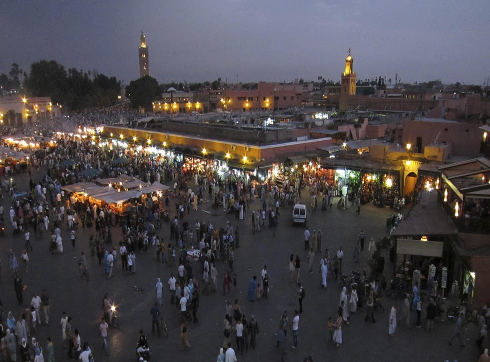 The teenagers were caught kissing on the roof of a building in Marrakesh (file photo)