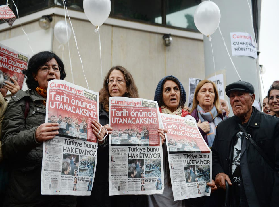 Nine members of Cumhuriyet's staff have been arrested
